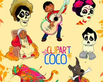 Coco character, Cute character clipart,Instant Download,PNG file - 300 dpi