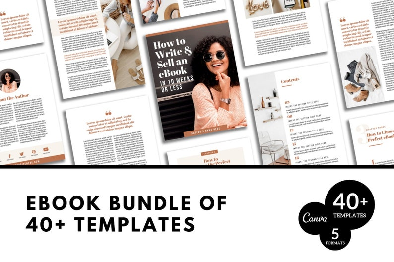 Canva Ebook Template | Canva Template | Canva Ebook Cover | Canva PDF  Download | Canva Opt In Freebie Content Upgrade Lead Magnet | To Sell