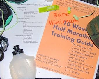 Bare Minimum 10 Week Half Marathon Training Guide
