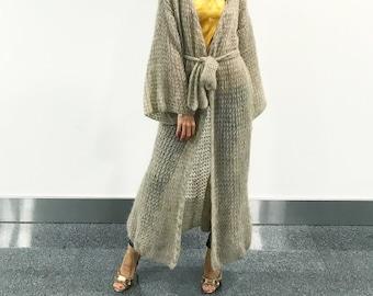 3ff52ce2f67 Long knit cardigan | Etsy
