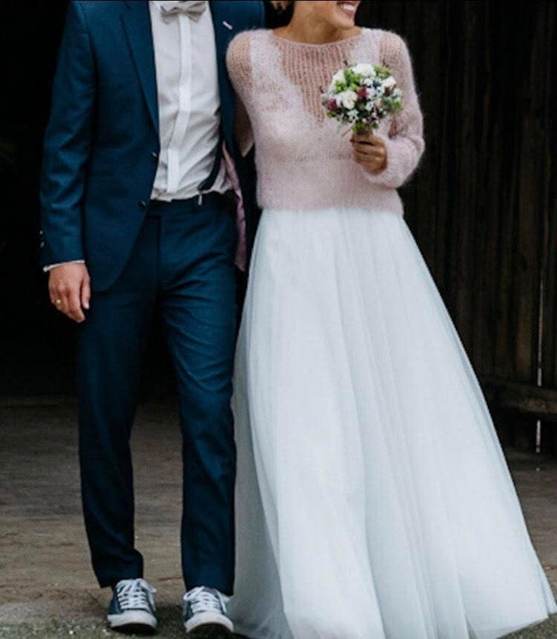 buy online 70b01 363a0 Braut rosa Pullover, Hochzeit weiß mohairpullover, Braut Mohair-Weste,  Hochzeit weißen Wollpullover, blass rosa Pullover, Frauen Puderrosa