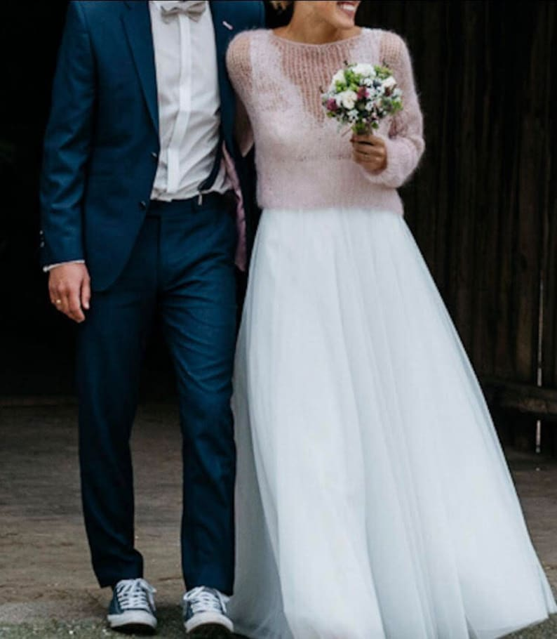 buy online d9f17 f2eb2 Braut rosa Pullover, Hochzeit weiß mohairpullover, Braut Mohair-Weste,  Hochzeit weißen Wollpullover, blass rosa Pullover, Frauen Puderrosa