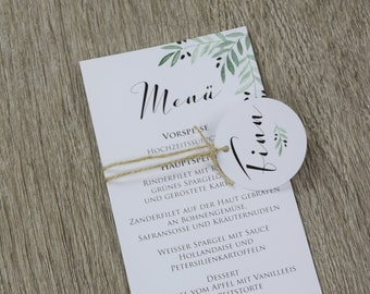 Menu card wedding maxi -Mediterranean love- wedding menu, Mediterranean wedding, wedding menu, vintage wedding
