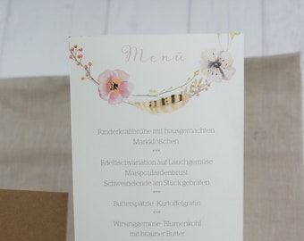 Menu menu wedding motif-Fairytale-
