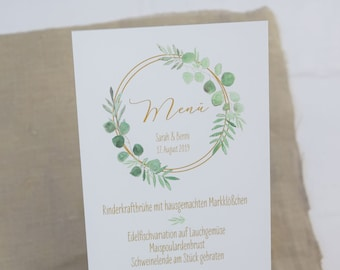 Menu menu Wedding motif-Ring Love-menu wedding, Wedding Menu, Vintage wedding, Hoop
