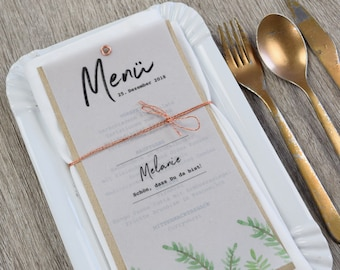 Menu card motif -Herbs Love-