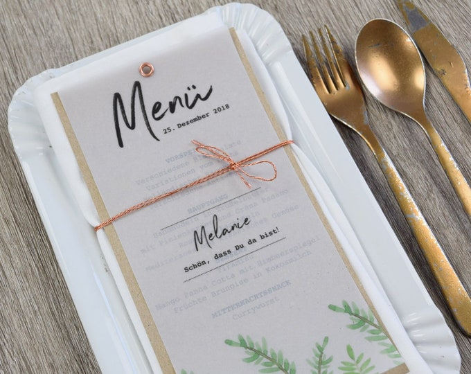 Menu menu motif curees love