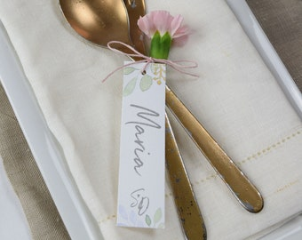 Trailer table card/place card wedding