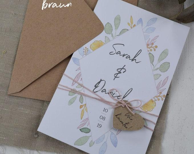 "Wedding invitation ""Summer Love"" invitation card to the wedding, individual wedding card, summer wedding"
