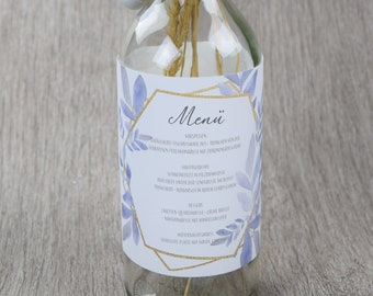 "Bottle banderole wedding/menu card ""boho-love"""