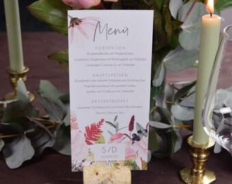 Menu Menu Wedding Motif -Flowerlove-