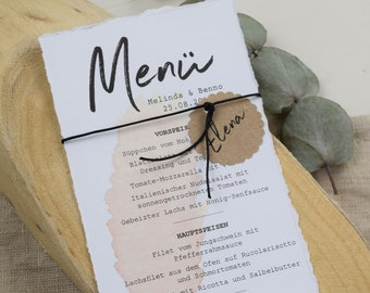"Menu Card Wedding Motif ""Pampasgras"""