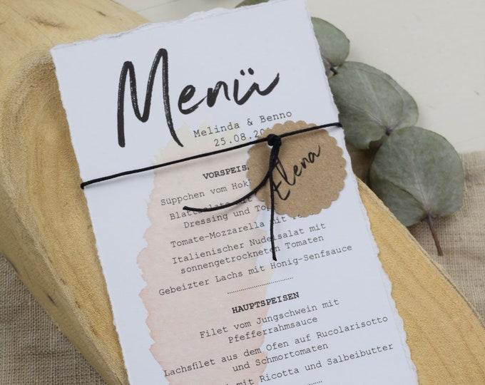 "Menu Card Wedding Motif ""Pampasgras"""