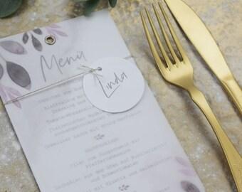 Menu menu wedding motif -Blush- wedding menu, custom menu