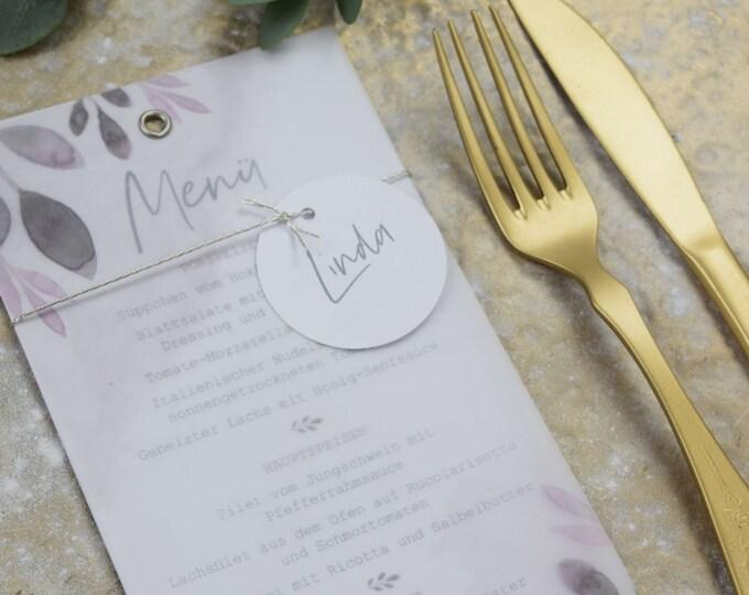 Menu Card Wedding Motif -Blush Wedding Menu, Custom Menu