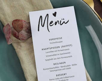 Menu card - perfect for wedding, baptism and birthday