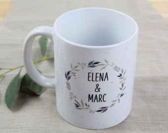 """50x cup, guest gift wedding guests """"nature love,"""" wedding, gift, personalized cup"""