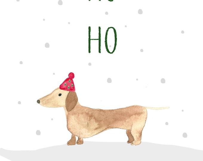 "Postcard ""dachshund in winter"""