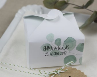 Guest gifts box, personalized packaging, wedding guest gifts box, vintage wedding, cardboard