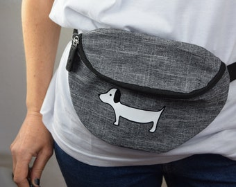 "Belly bag, Hip Bag, Guertel bag ""Dachshund"""