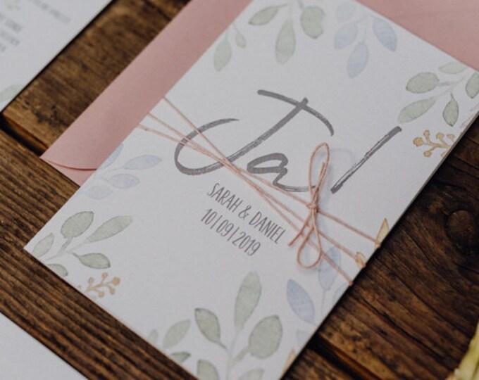 "Wedding Invitation ""Summer Love 2"" Invitation card to the Wedding, individual wedding card, summer wedding"