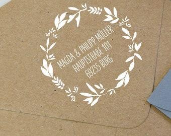 Address stamp, wedding stamp, family stamp, custom stamp, wooden stamp