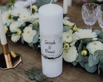 Wedding candle motif ' blossome-love ' dreak