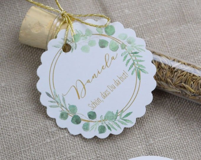 "Guest Gift wedding ""Ring love"" Flower Meadow, Wedding Guest gift, individually printed Pendant, name Card"