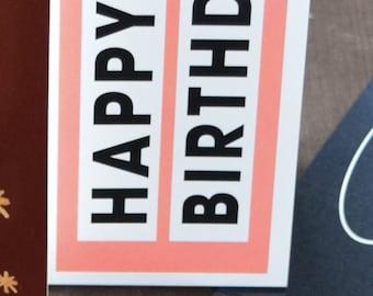 "Bottle Banderole ""Happy Birthday"" Sparkling Wine Banderole, Greeting Card"