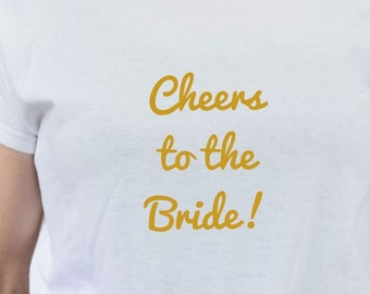 "Women's T-Shirt ""Mrs,"" T-Shirt, Gold Print, Bride, JGA Shirt"