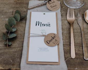 Menu menu motif -flowering love -