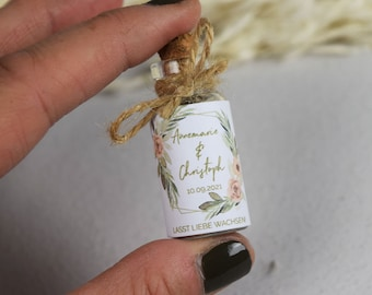 """Guest gift wedding """"Apricot & Sage"""" flower meadow, gift for wedding guests, personalized gift for wedding guests"""