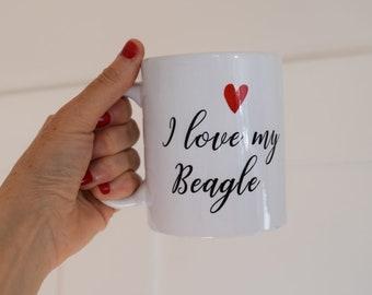 """Cup, """"I love my Beagle,"""" Dog"""