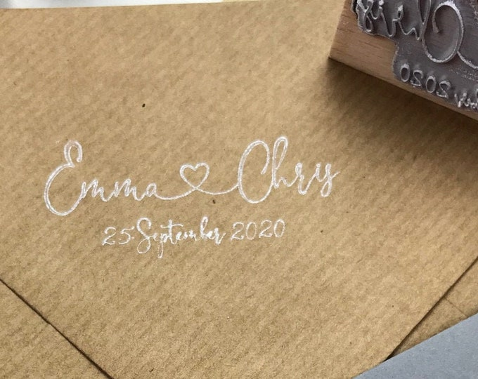 Wedding Stamp, Family Stamp, Custom Stamp, Wooden Stamp
