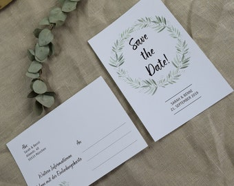 "Save the Date Card Wedding ""Blossoming Love"""