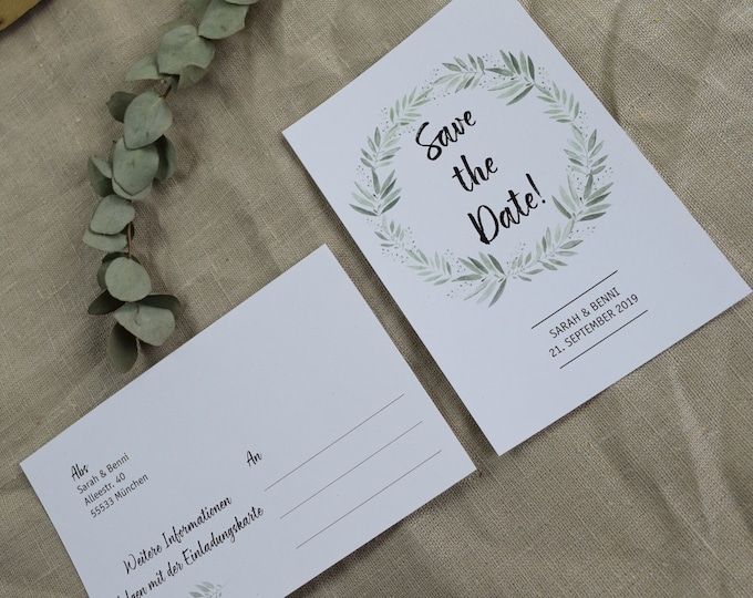 Save the Date card wedding ' blossoming love '