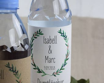 Bottles label juniper love vintage wedding, guest gift wedding, hillside over kit, hangover breakfast