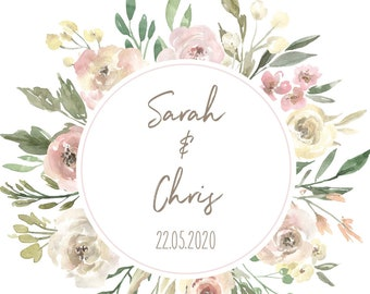 "Welcome poster wedding ""watercolor flower"" poster for wedding, guest book"