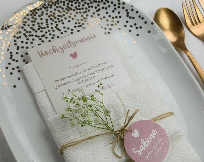 Menu card Wedding