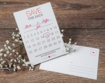 Save the Date Karte-DIY-Wedding Announcement, Wedding Card