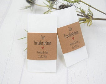 "Joy Tears Banderole ""Heart"" Kraft Paper Wedding"