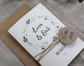 Hochzeitseinladung Inkl. Tagesablauf