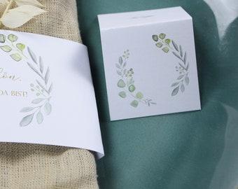 "Place Card ""Sage Love"", Name Sign, Wedding, Baptism, Birthday"