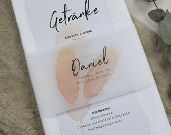 "Napkins Banderole ""Pampasgrass"" Place Card"