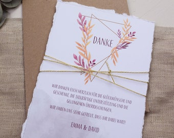 "Thank you card wedding ""Geometric boho"", thanksgiving for the wedding, custom print"