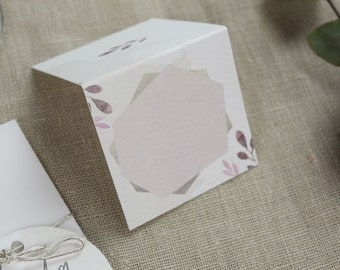 "Place card ""Blush"", nametag, wedding"