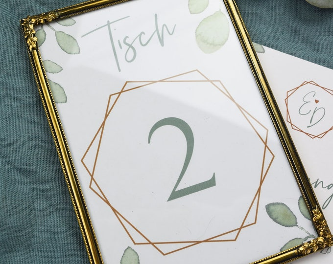 "Table number ""Greenery Love"""