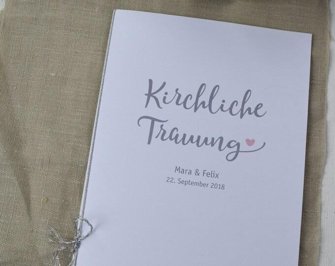 """Church booklet wedding """"Yes,"""" dream book, church wedding ceremony, church leaf wedding"""