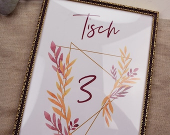 "Table number ""Geometric-Boho"""