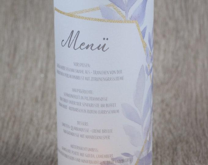 "Menu light/menu card ""Boho-Love"" lit up"